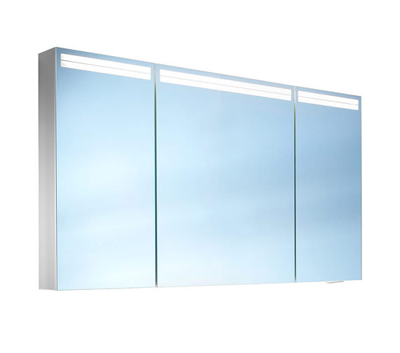 Schneider Arangaline 3 Door Mirror Cabinet 1300mm - Door Width 30/50/30cm