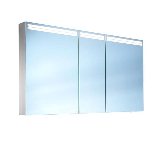 Schneider Arangaline 3 Door Mirror Cabinet 1300mm - Door Width 50/30/50cm
