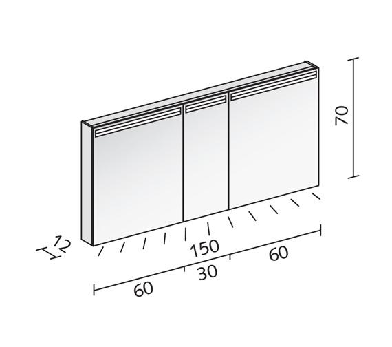 Technical drawing QS-V16548 / ARA 150/3/LED