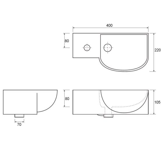 Technical drawing QS-V81614 / VB005