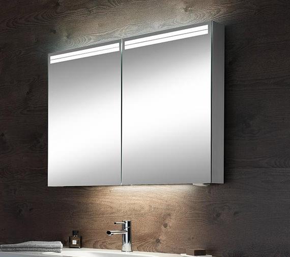 Additional image of Schneider Arangaline 2 Door Mirror Cabinet 600mm