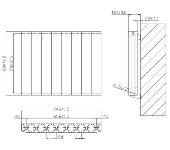 Technical drawing QS-V6622 / RA235