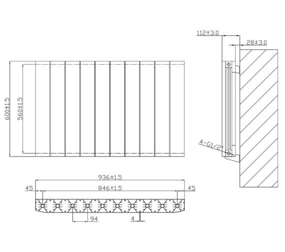 Technical drawing QS-V6623 / RA232