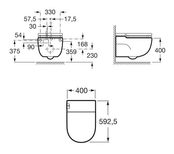 Technical drawing QS-V16504 / 893301000