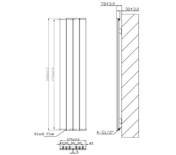 Technical drawing QS-V6616 / RA221