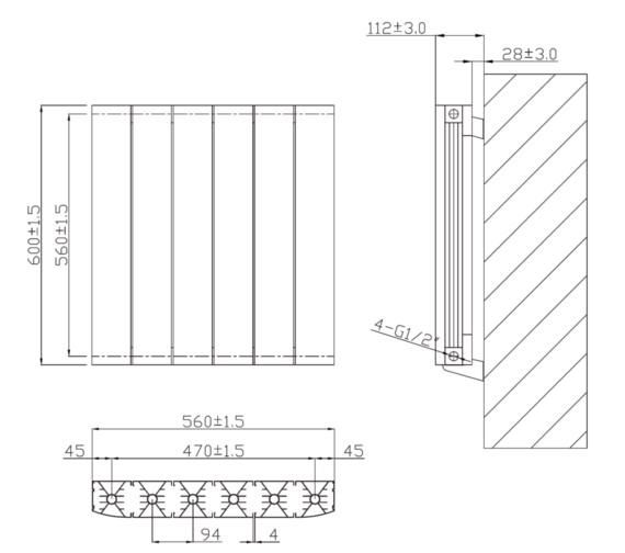 Technical drawing QS-V6620 / RA234