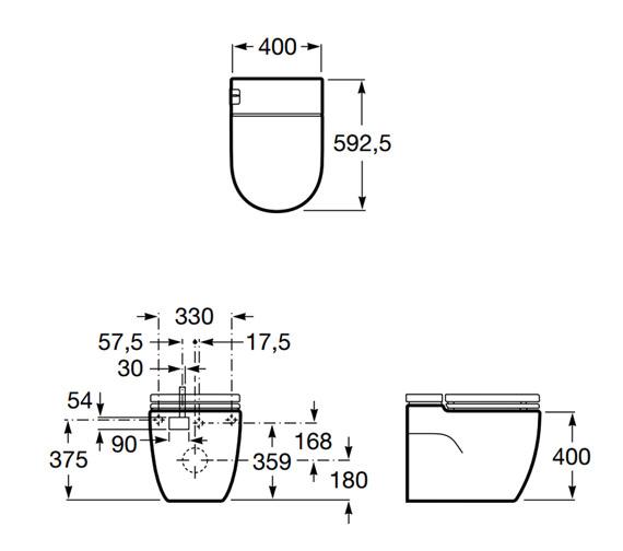 Technical drawing QS-V16506 / 893303000