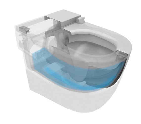 Additional image of Roca Meridian-N In-Tank Floor Standing Back-to-wall Toilet