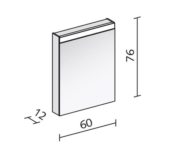 Technical drawing QS-V16550 / PAT 60/1/LED