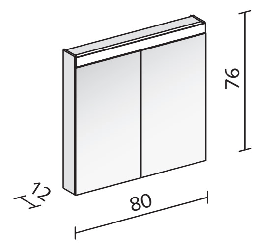 Technical drawing QS-V16553 / PAT 80/2/LED