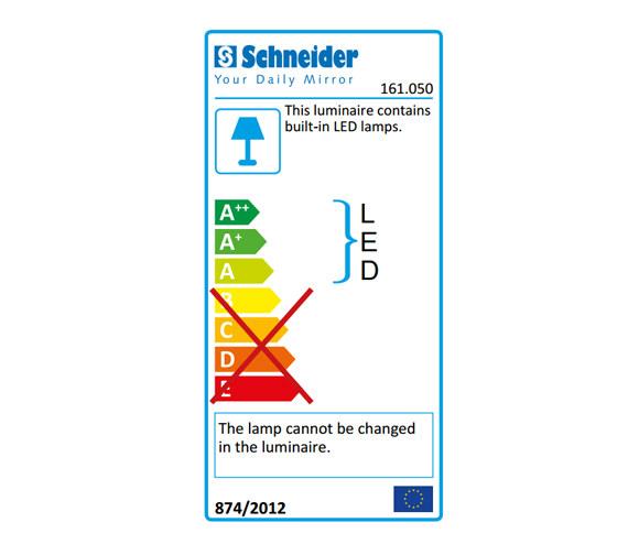 Additional image of Schneider Pataline 2 Door LED Mirror Cabinet 800mm