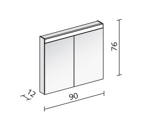 Technical drawing QS-V16554 / PAT 90/2/LED