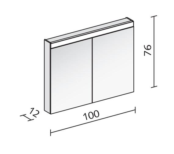 Technical drawing QS-V16555 / PAT 100/2/LED