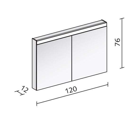 Technical drawing QS-V16556 / PAT 120/2/LED