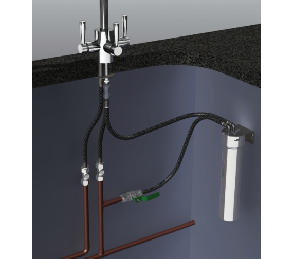 Additional image of Franke FilterFlow Kubus Sink Tap With Hand Spray SilkSteel