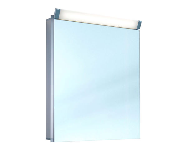 Schneider Paliline 1 Door 760mm Height Mirror Cabinet With LED Light - More Width Sizes Available