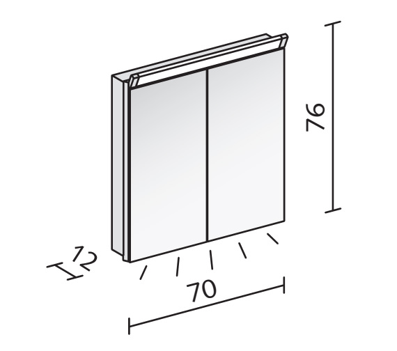 Technical drawing QS-V16564 / PAL 70/2/LED