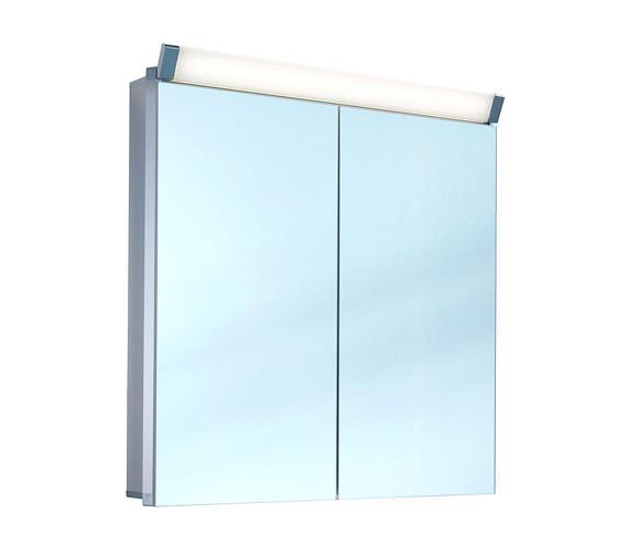 Schneider Paliline 2 Door Mirror Cabinet With LED Light 800mm