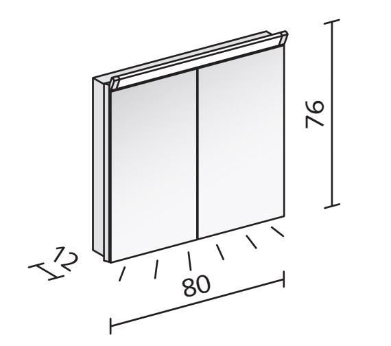 Technical drawing QS-V16565 / PAL 80/2/LED