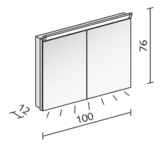Technical drawing QS-V16567 / PAL 100/2/LED