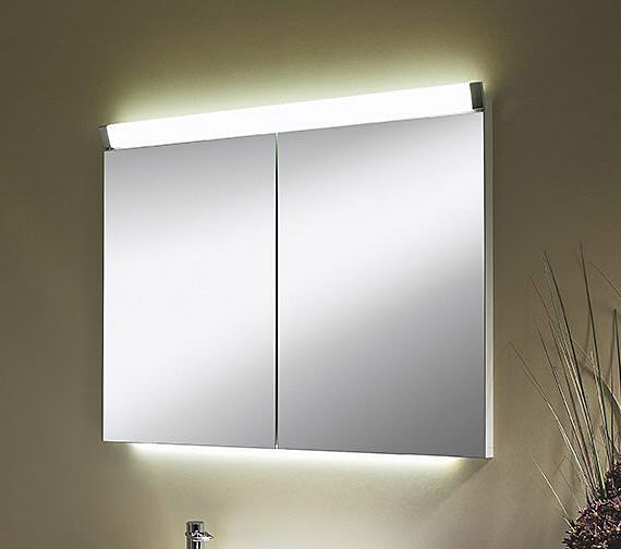 Schneider Paliline 2 Door Mirror Cabinet With Led Light 1000mm