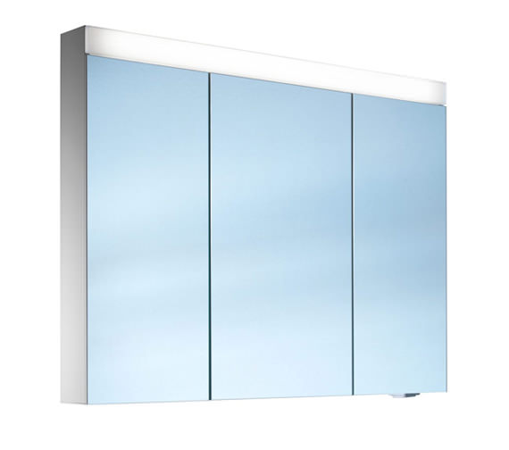 Schneider Pataline 3 Door LED Mirror Cabinet 1000mm
