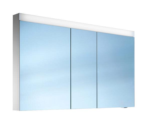 Schneider Pataline 3 Door Mirror Cabinet 1300mm - Door Width 50/30/50cm