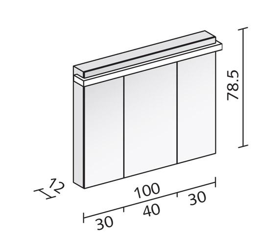 Technical drawing QS-V16574 / TAI 100/3/LED