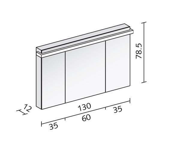 Technical drawing QS-V16575 / TAI 130/3/GT/LED