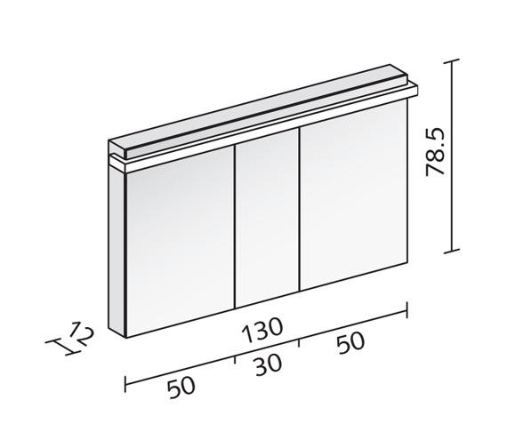 Technical drawing QS-V16576 / TAI 130/3/LED