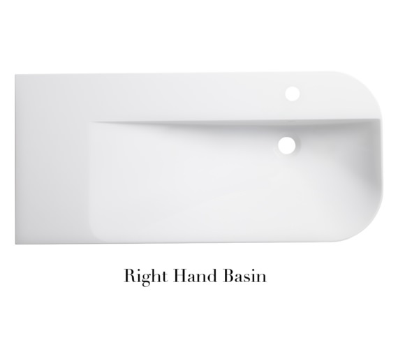 Alternate image of Roper Rhodes Cirrus 900mm Isocast Wall Mounted Basin Left Hand