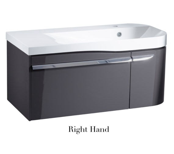 Alternate image of Roper Rhodes Cirrus 900mm Gloss Clay Unit With Basin Left Hand