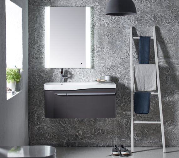 Additional image of Roper Rhodes Cirrus 900mm Gloss Clay Unit With Basin Left Hand