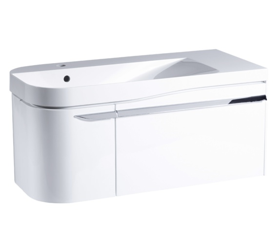 Roper Rhodes Cirrus 900mm Gloss White Unit With Basin Left Hand