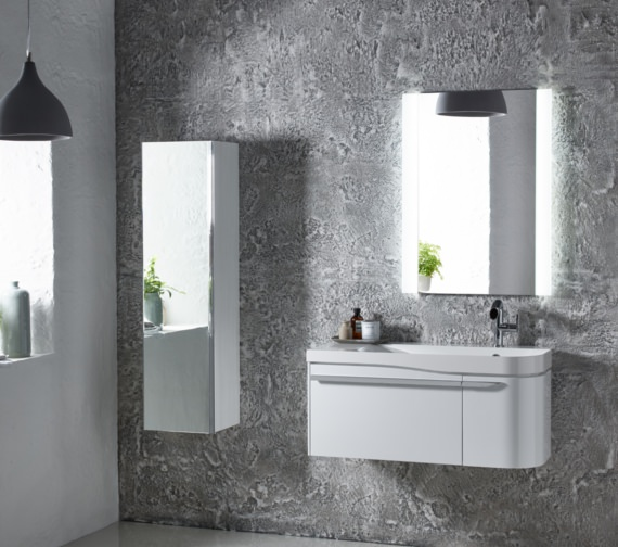 Additional image of Roper Rhodes Cirrus 900mm Gloss White Unit With Basin Left Hand