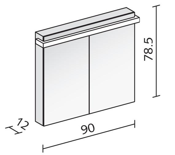 Technical drawing QS-V16571 / TAI 90/2/LED