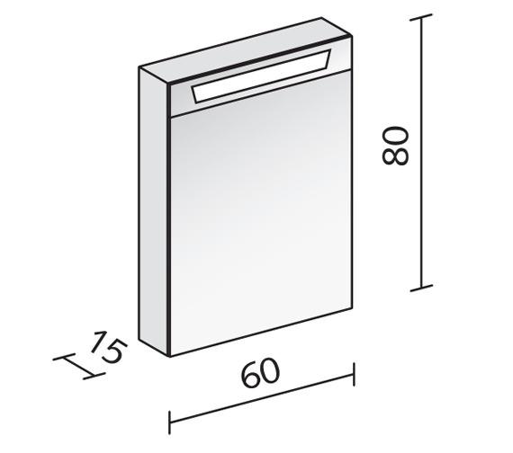 Technical drawing QS-V16579 / CAP 60/1/FL