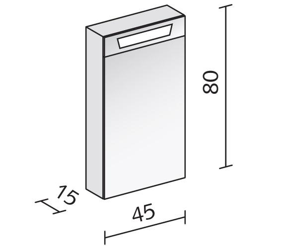Technical drawing QS-V16578 / CAP 45/1/FL