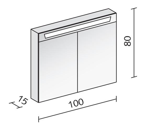Technical drawing QS-V16582 / CAP 100/2/FL