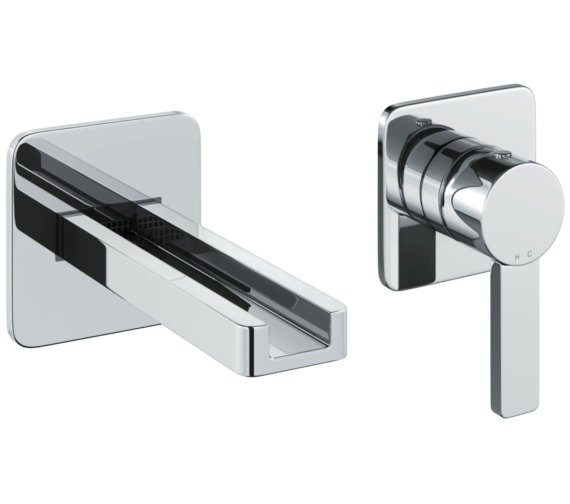 Abode Modo Wall Mounted 2 Hole Bath Mixer Tap
