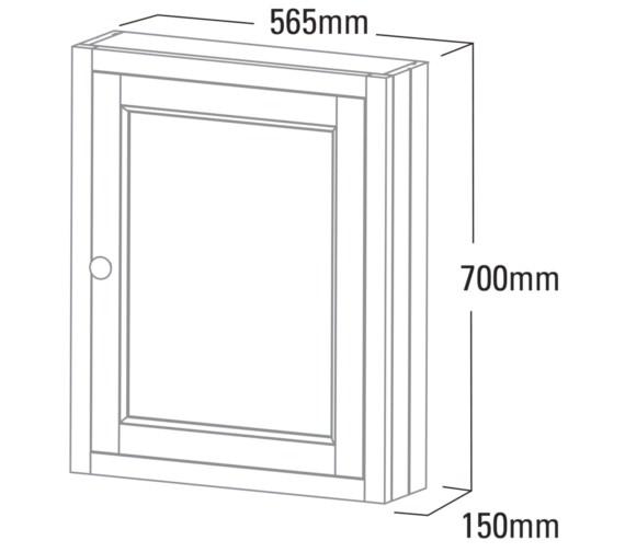 Technical drawing QS-V6784 / HAMCAB.NO