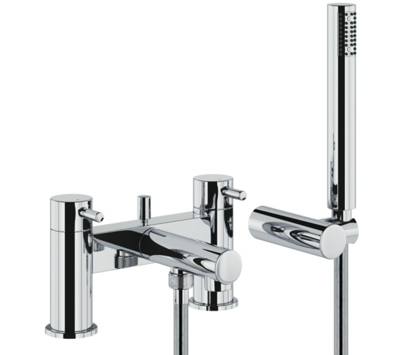 Abode Tanto Deck Mounted Bath Shower Mixer Tap With Shower Handset