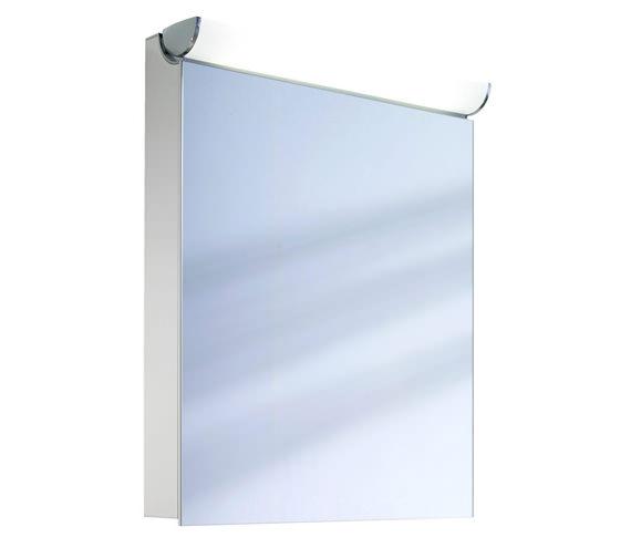 Schneider FaceLine 1 Door Illuminated Mirror Cabinet 600mm