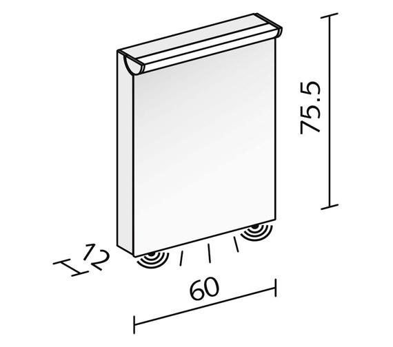Technical drawing QS-V16591 / FLI 60/1/FL