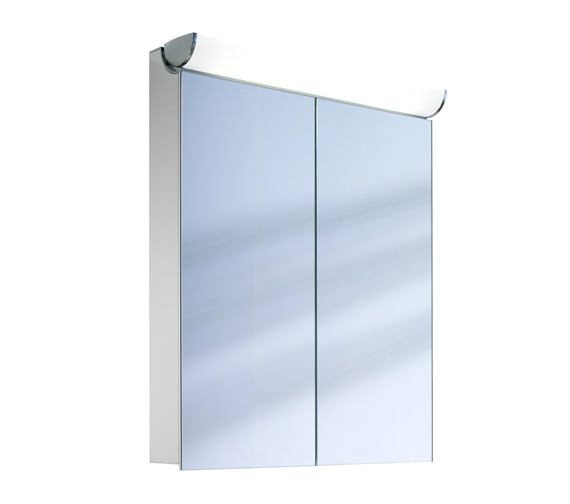 Schneider FaceLine 2 Door Illuminated Mirror Cabinet 600mm