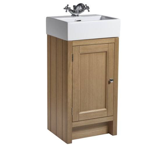 Roper Rhodes Hampton 420mm Natural Oak Cloakroom Unit With Basin