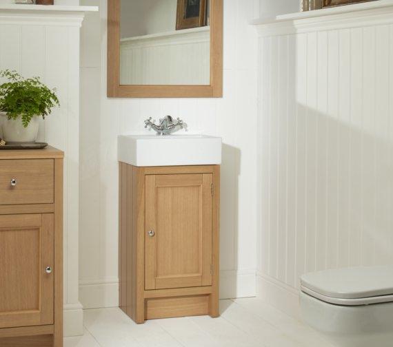 Alternate image of Roper Rhodes Hampton 420mm Natural Oak Cloakroom Unit With Basin