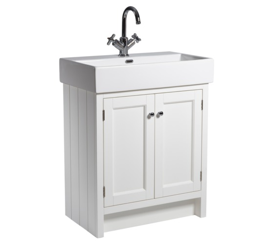 Roper Rhodes Hampton 700mm Chalk White Vanity Unit With Basin