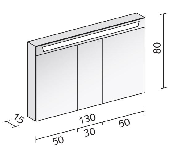 Technical drawing QS-V16586 / CAP 130/3/FL