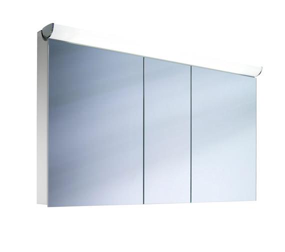 Schneider FaceLine 3 Door Illuminated Mirror Cabinet 1300mm
